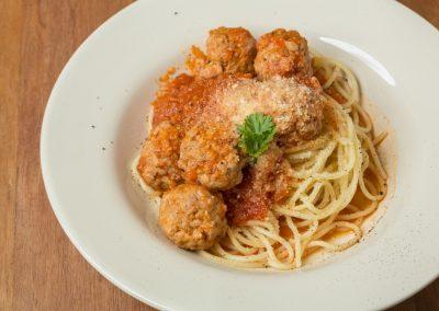 Spaghetti & Pork Meatballs