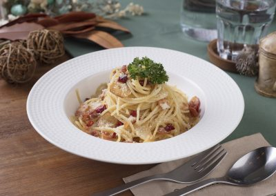 Spaghetti with Spicy Bacon