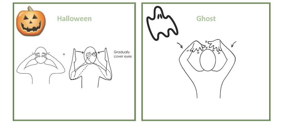 Sign of the month: Halloween, ghost, spider, witch